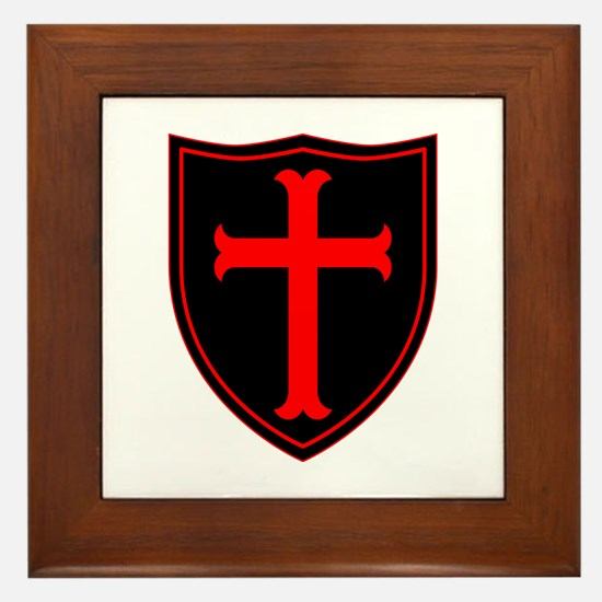 Crusaders Cross - ST-6 (1) Framed Tile