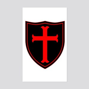Crusaders Cross - ST-6 (1) Sticker (Rectangle)