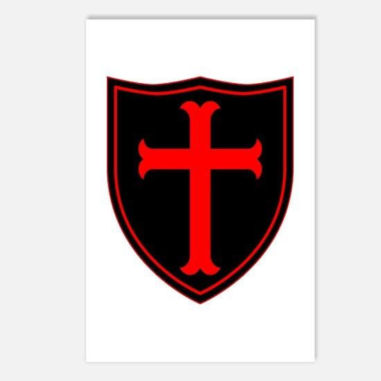 Crusaders Cross - ST-6 (1) Postcards (Package of 8