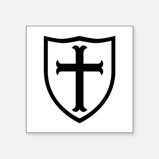 "Crusaders Cross - ST-6 (2) Square Sticker 3"" x 3"""