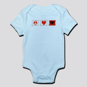 Peace, Love and Albania Infant Bodysuit