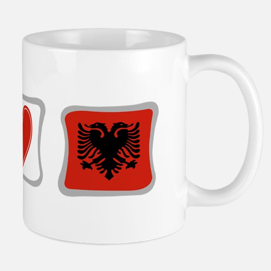 Peace, Love and Albania Mug