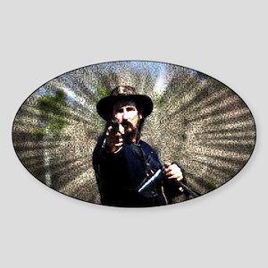 Civil War Sunburst Sticker (Oval)