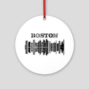 Boston City Round Ornament
