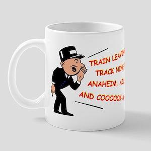 Train leaving on track 9... Mug