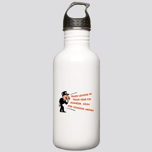Train leaving on track 9... Stainless Water Bottle