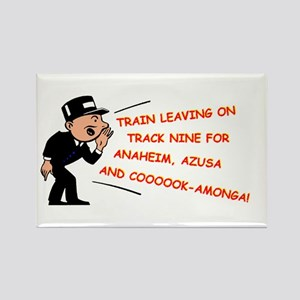 Train leaving on track 9... Rectangle Magnet