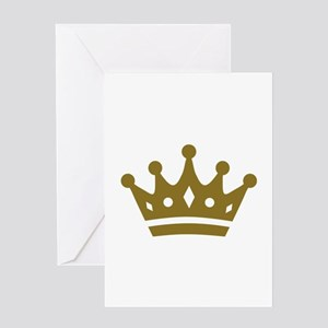Golden crown Greeting Card