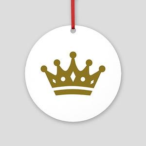 Golden crown Ornament (Round)