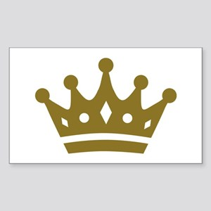 Golden crown Sticker (Rectangle)