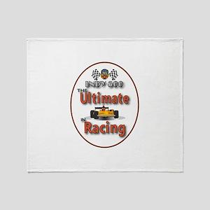 Race Car Winner Throw Blanket