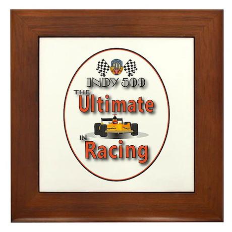 Race Car Winner Framed Tile