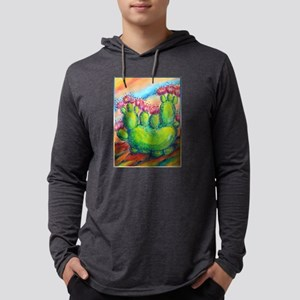 Beautiful, colorful desert cactus Mens Hooded Shir