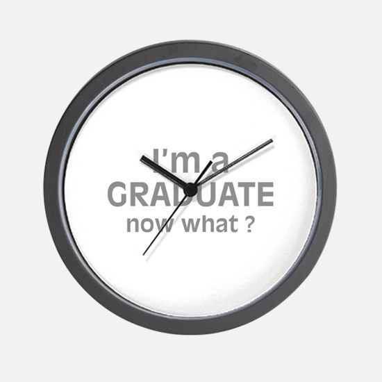 I'm a Graduate. Now What ? Wall Clock
