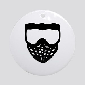 Paintball mask Ornament (Round)