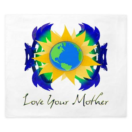 Love Your Mother King Duvet