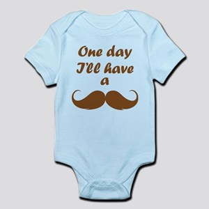One Day I'll Have A Mustache Infant Bodysuit