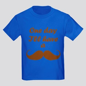 One Day I'll Have A Mustache Kids Dark T-Shirt