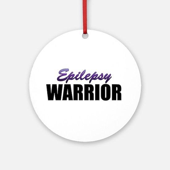 Epilepsy Warrior Ornament (Round)