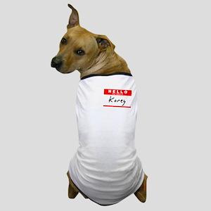 Korey, Name Tag Sticker Dog T-Shirt