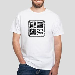 KITARO Stamp White T-Shirt (Front&Back)