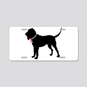 Bloodhound Breast Cancer Support Aluminum License