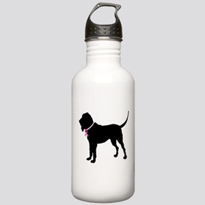 Bloodhound Breast Cancer Support Stainless Water B