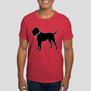 Bloodhound Breast Cancer Support Dark T-Shirt