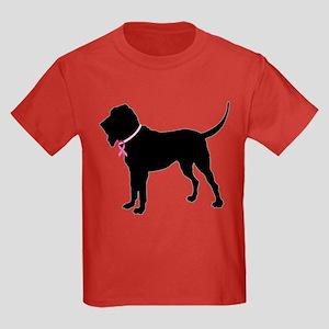 Bloodhound Breast Cancer Support Kids Dark T-Shirt