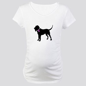 Blood Hound Breast Cancer Sup Maternity T-Shirt