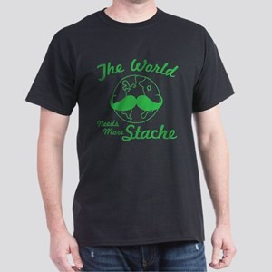 The World Needs More Stache Dark T-Shirt