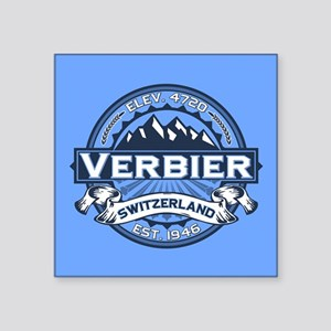 "Verbier Blue Square Sticker 3"" x 3"""