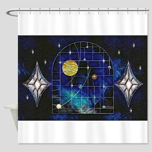 Harvest Moons Solar System Shower Curtain