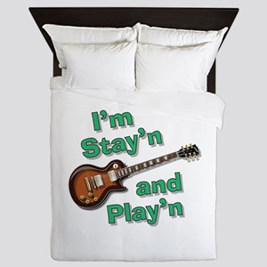 Guitar Playn Queen Duvet