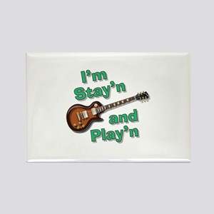 Guitar Playn Rectangle Magnet