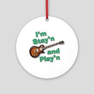 Guitar Playn Ornament (Round)