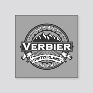 "Verbier Grey Square Sticker 3"" x 3"""