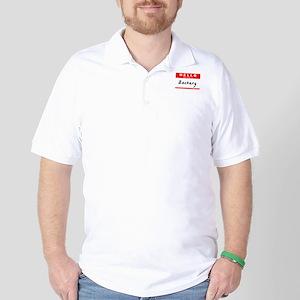 Zackary, Name Tag Sticker Golf Shirt