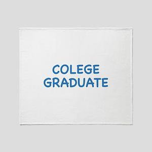 Colege Graduate Throw Blanket
