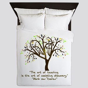 The Art Of Teaching Queen Duvet