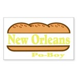 Poboy Sticker (Rectangle 50 pk)