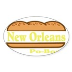 Poboy Sticker (Oval 50 pk)