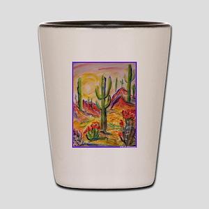 Saguaro Cactus, desert Southwest art! Shot Glass