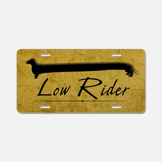 Dachshund Low Rider Aluminum License Plate