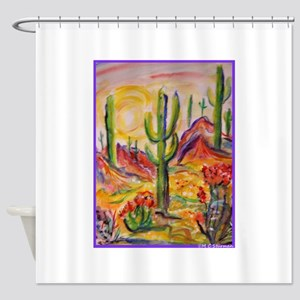 Saguaro Cactus, desert Southwest art! Shower Curta