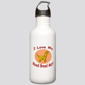 I Love My Mutt Stainless Water Bottle 1.0L
