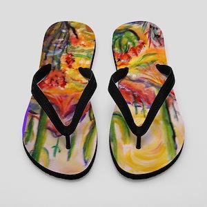 Saguaro Cactus, desert Southwest art! Flip Flops