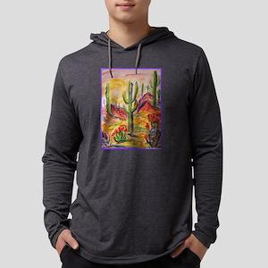 Saguaro Cactus, desert Southwest art! Mens Hooded