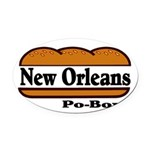 nolapoboy Oval Car Magnet