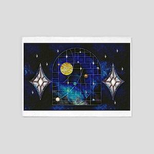 Harvest Moons Solar System 5'x7'Area Rug